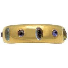 Custom-Made Nieman Marcus Aquamarine and Tanzanite Ring