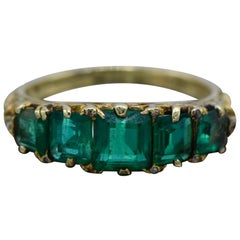 Antique Colombian Emerald Ring
