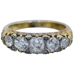 Antique Old-Mine Diamond and Gold Ring