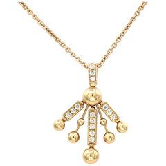 Bvlgari 18 Karat Yellow Gold Vintage Pave Diamond Necklace