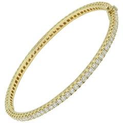 18 Karat Yellow Gold and White Diamonds Garavelli Bracelet