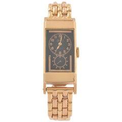 Rolex Pink Gold Prince Black Dial Wristwatch Ref 3362, circa 1930s