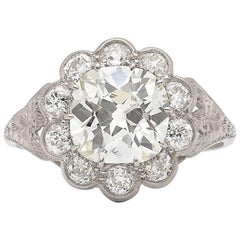 Vintage European Cut Diamond and Platinum Ring