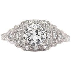 GIA G/VS2 Vintage Diamond Engagement Ring