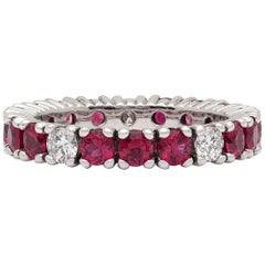 Ruby and Diamond Eternity Band by Gubelin
