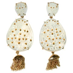 Earrings Mother-of-Pearl Gold