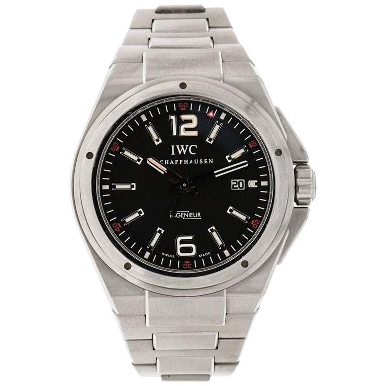 IWC Stainless Steel Ingenieur Mission Earth self-winding Wristwatch For Sale