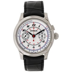 Montblanc White Gold Pulsographe Limited Edition manual Wristwatch