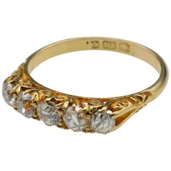Birmingham, circa 1900 Diamond and 18 Karat Gold Wedding Band
