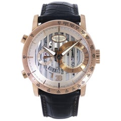 Parmigiani Rose Gold Bugatti Atalante Flyback Chronograph self-wind Wristwatch