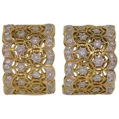 Huggies Diamond Gold Earrings
