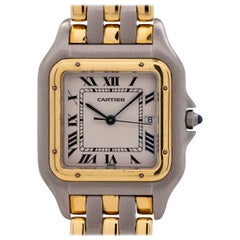 Cartier Yellow Gold Stainless Steel Panther Jumbo Three Rows quartz wristwatch