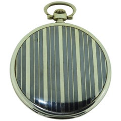 Ulysse Nardin Silver and Niello Art Deco Pocket Watch with Original Dial