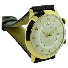 LeCoultre 14 Karat Yellow Gold Filled Alarm Watch, 1960s