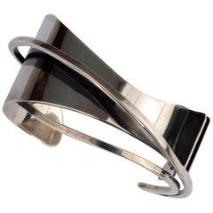 Ed Wiener Sterling Silver Modernist Cuff Bracelet