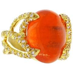 Henry Dunay Tangerine Moonstone Ring