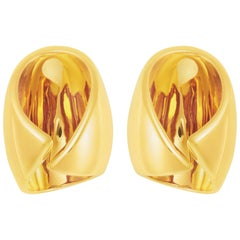 Sterling Silver Gold Vermeil Positron Earring