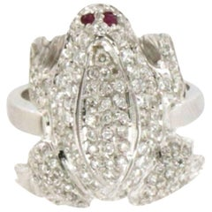 Frog Gold Diamonds Ring