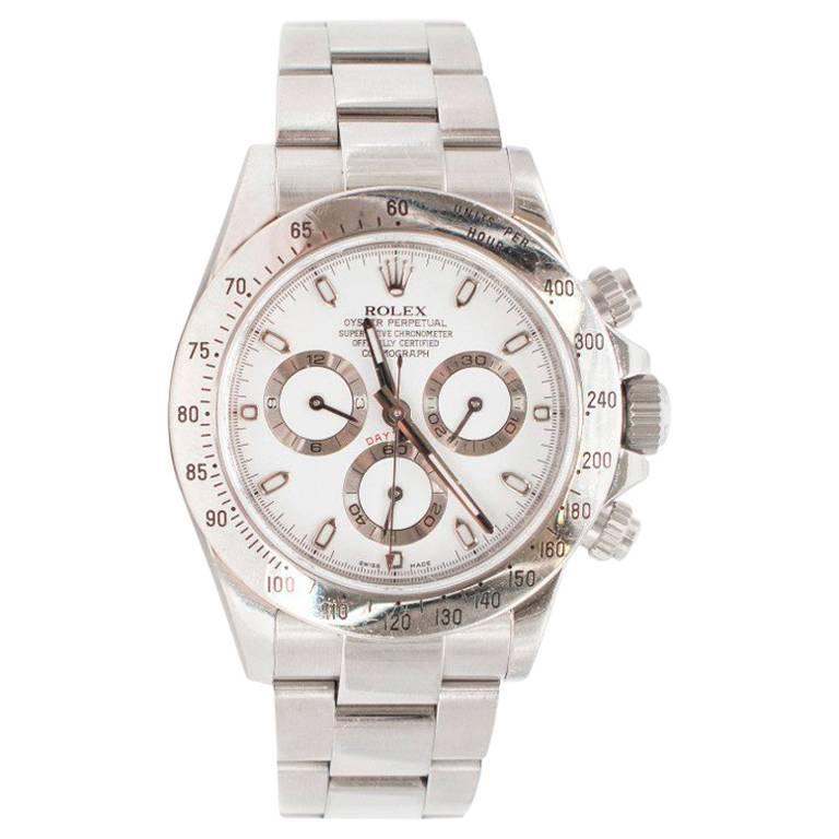 Rolex Stainless Steel Cosmograph Daytona Automatic Wristwatch
