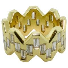 18 Karat Diamond Eternity Ring 4.00 Carat