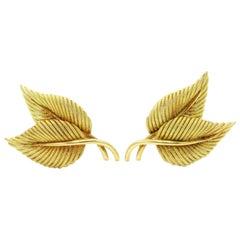Tiffany & Co. Leaf Clip-On Earrings