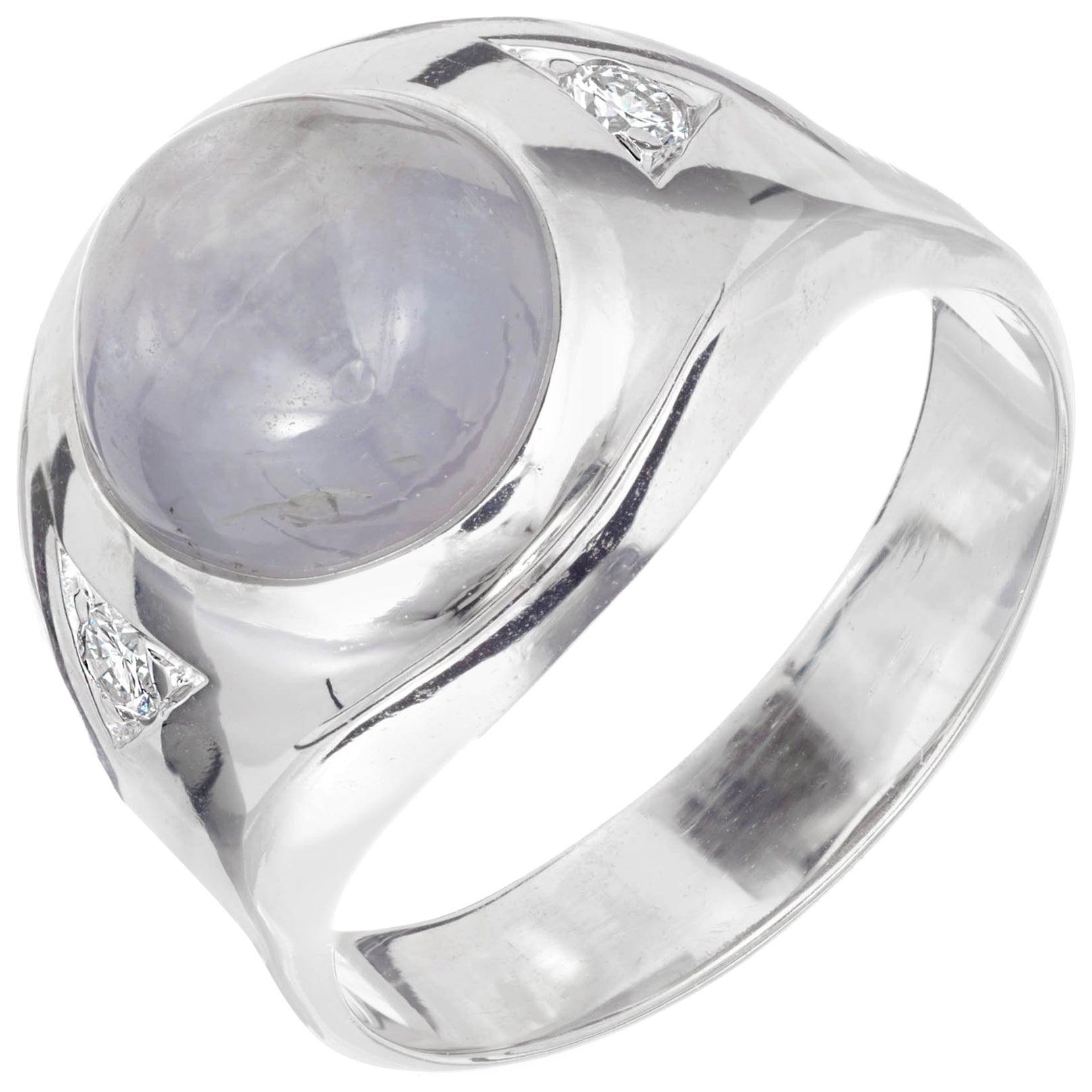 GIA Certified 9.00 Carat Natural Star Diamond White Gold Men's Ring