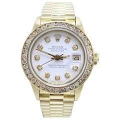 Rolex Ladies President Datejust 6917 Diamond Dial 18 Karat Yellow Gold Mint Band