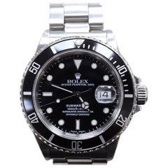 Vintage Rolex Submariner 16800 Stainless Steel Original Black Dial, 1985-1986
