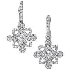 Uneek Drop Earrings in Gold and Diamonds