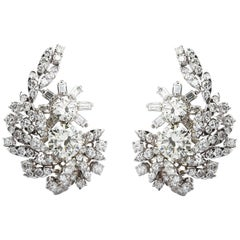 18 Carat Diamond Cluster Earrings