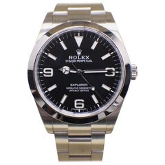 Rolex Explorer 214270 Black Dial Stainless Steel Box and Papers, 2017
