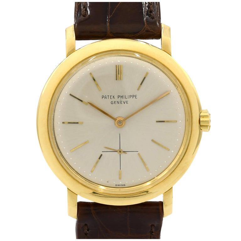 Patek Philippe Yellow Gold Calatrava Automatic Wristwatch Ref 3440