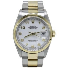 Rolex Datejust 16203 Arabic Dial 18 Karat Yellow Gold and Stainless Steel