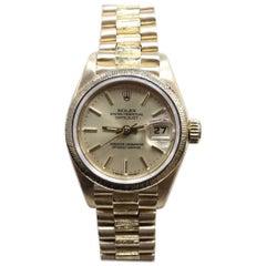 Rolex Ladies President Datejust 69278 18 Karat Yellow Gold