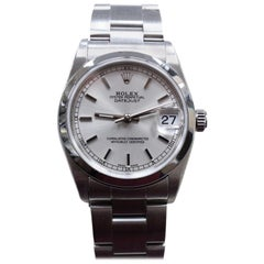 Rolex 78240 Midsize Datejust Stainless Steel Complete with Box and Papers