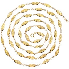 French Victorian 18 Karat Yellow Gold Chain