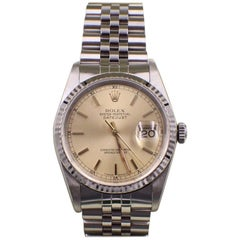 Rolex Datejust 16234 Mint Condition Stainless Steel and 18 Karat Gold