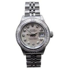 Rolex Ladies DateJust 79240 Stainless Steel MOP Diamond Dial Diamond Bezel 2001