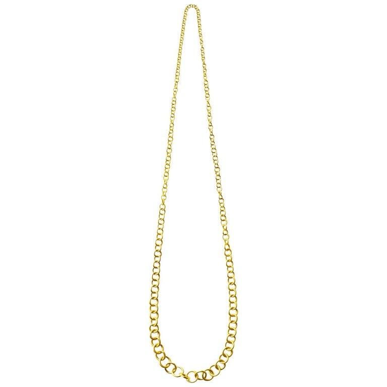 18 Karat Yellow Gold Link Necklace