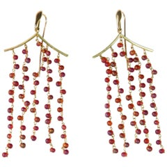 Amber Gold Pagoda Earrings