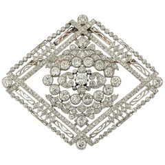 Edwardian Diamond Brooch, 1910s