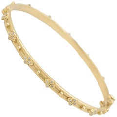 Armenta Diamond Bangle Sueno Bracelet, 18 Karat Yellow Gold, Style 06153