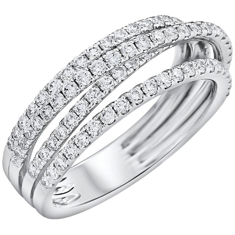 Entwined Four Row Diamond Ring For Sale At 1stdibs