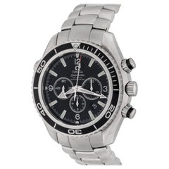 Omega Stainless Steel Seamaster Planet Ocean Chronograph Automatic Wristwatch