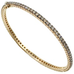 18 Karat Yellow Gold Brown Diamonds Garavelli Bracelet