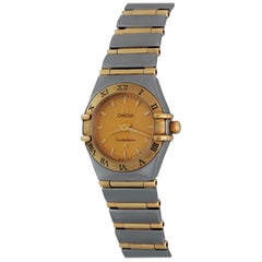 Omega Ladies Yellow Gold Stainless Steel Constellation Quartz Wristwatch