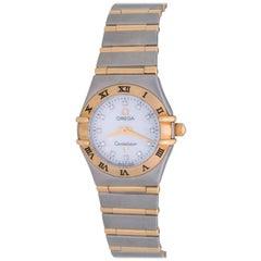 Omega Ladies Yellow Gold stainless Steel Diamond Constellation Quartz Wristwatch