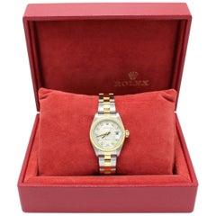 Rolex Ladies Datejust 79173 Diamond 18 Karat Gold and Stainless Steel