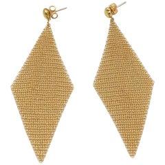 Diamond Shaped Mesh Earrings