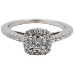 Vera Wang Love Diamond Engagement Ring 3/4 Carat in 14 Karat White Gold